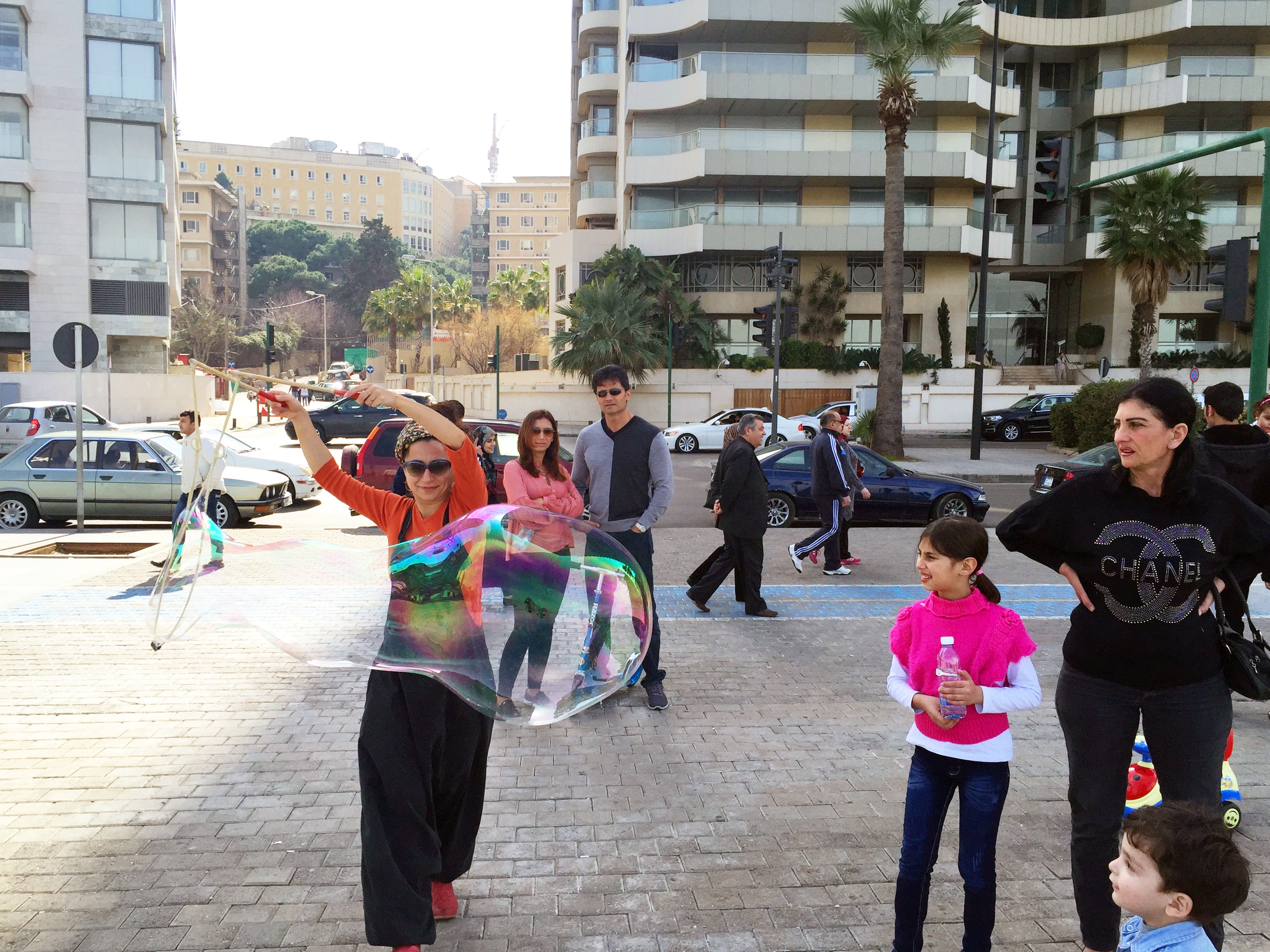 Sabine Clown Me IN bubbles soap Beirut Lebanon.jpg