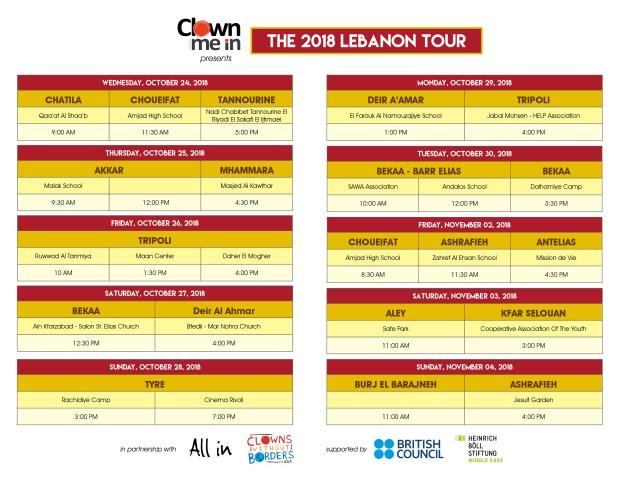 Clown Me In 2018 Tour Schedule