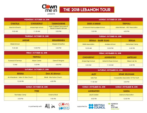 Clown Me In 2018 Tour Schedule