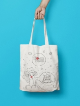 Clown me in tote bag mock up