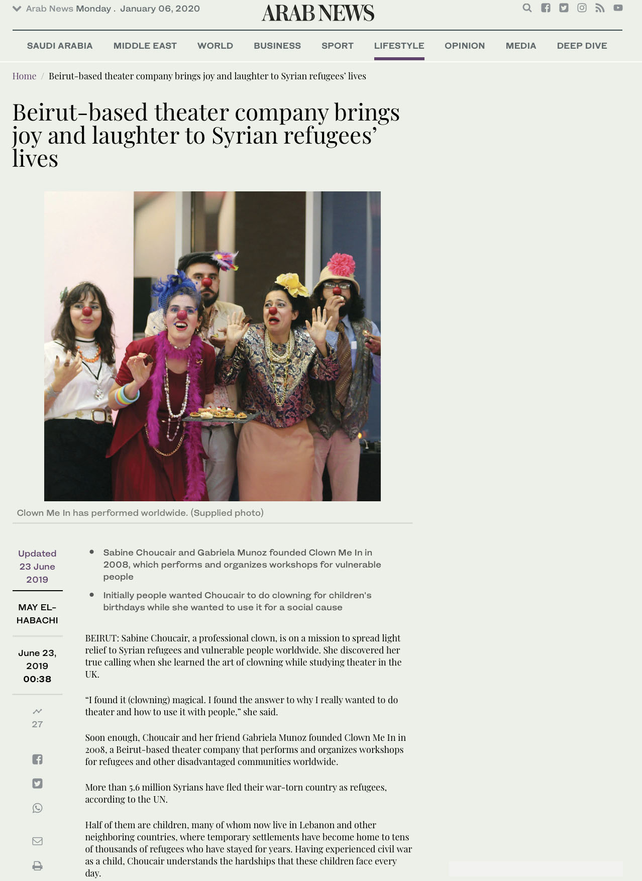 Clown Me In ARAB NEWS.jpg